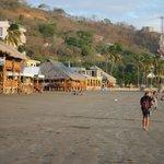 restaurants lining the beach