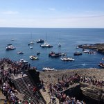 Red bull cliff diving...