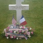 My uncle's grave at Normandy Cemetery