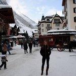 My wife in downtown Zermatt