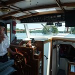 Captain Lance at the helm