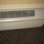 Newer AC/heat/air control unit in one of our rooms