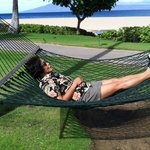 Relaxing at Ka'anapali Beach.