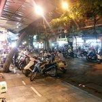 Old Quarter street scene at night