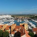 View from hotel over the Vilamoura Marina