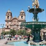 Spanish influence in Plaza de Armas.