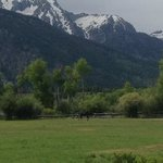 View of the Grand Tetons from our cabin.