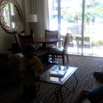 living room junior suite pool access