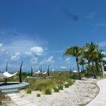 Beach view from walkway