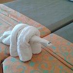Jugando con las toallas