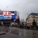 Piccadilly Circus just outside criterion Theatre