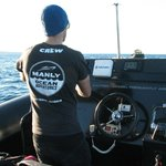 Skipper Blake constantly scanning for whales + radio checks