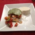 vegetables and savory ice cream