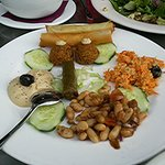 Appetizer Platter (we at one of the grape leaves)