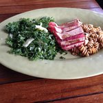 Tuna + kale salad + pasta salad