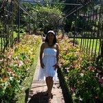 paseando en los jardines