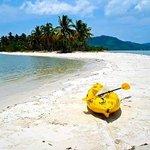 Sea kayaking: this coastline on Yao Yoi lies directly opposite KYN gym