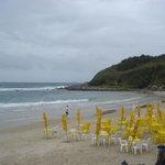 Praia das Conchas em dia Nublado