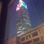 Evening view of Empire state building