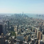 View from top of the Empire state Building on the Tour