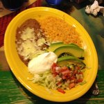 Side dish with fajitas