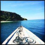 Daily boat trip organised by helpful staff