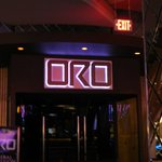 Entrance to Oro nightclub