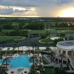 View overlooking pool, golf course and Hollywood Studios