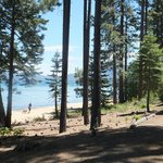 Beach front at the Tallac Estate