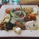 Mixed appetizer plate