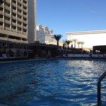 Nice pool with bar and cabanas