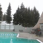 A view of the heated pool.