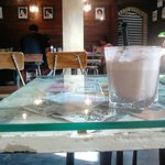 Ice Cappucinno, and a bit of the interior