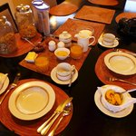 Breakfast setup