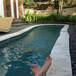 our own pool in villa
