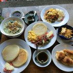 breakfast served in-villa (table 1)