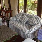 Living room in boat suite
