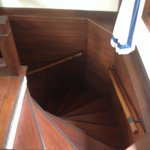 Stairs in our boat suite