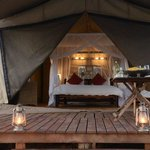 tented rooms.
