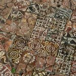 Ancient tiles in Cleeve Abbey