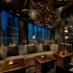 Mint Leaf of London Lounge has an amazing view of the Burj Khalifa