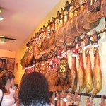 You will try some jambon (white and black pigs)