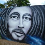 Levee wall graffiti