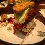 Half of my Carnegie Deli sandwich, it was beaten.