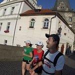 Running in Prague across the Charles Bridge