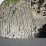 Basalt Rock Face on a Beach