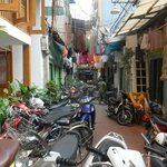 Looking down the lane from the Paramont, Hanoi.