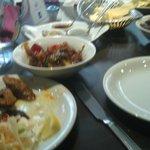Starters, apologies for the blurry picture. Lasooni sheek kebab, chilli chicken, paneer tikka et