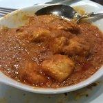 Desi chicken curry.  Had a lovely smokey taste, black cardamoms perhaps?