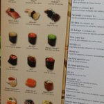 front of the menu